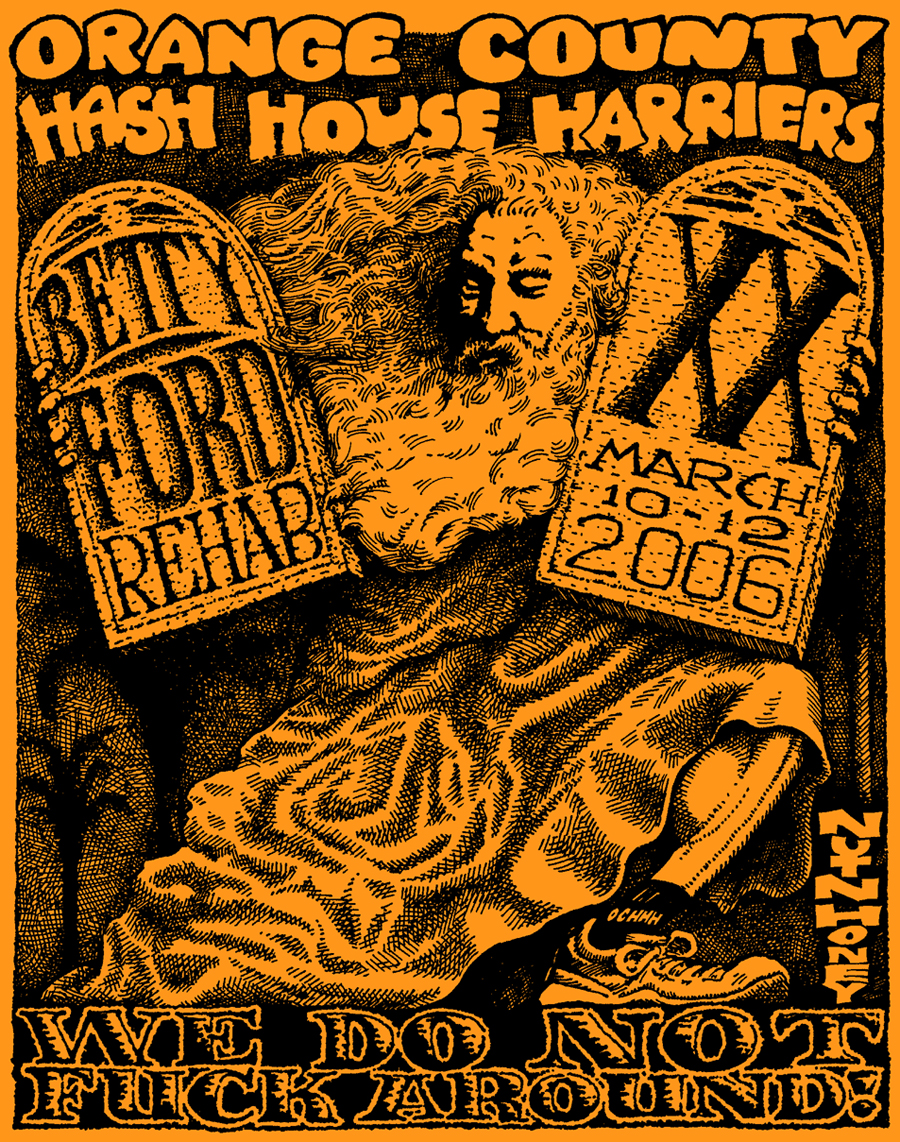 OCHHH Betty Ford Rehab Hash XX Tee Shirt Back (2006) Hash Moses by Nut N Honey
