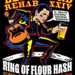 OCHHH Betty Ford Rehab Hash XXIV Tee Shirt Front (2010) Johnny Cash