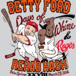 OCHHH Betty Ford Rehab Hash XXVIII Long-Sleeve Tee Shirt Back (2014) Mark McGwire & Barry Bonds