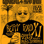 OCHHH Betty Ford Rehab Hash XI BFR Flyer (1997) Jerry Garcia