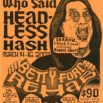 OCHHH Betty Ford Rehab Hash XVII BFR Flyer (2003) Ozzy