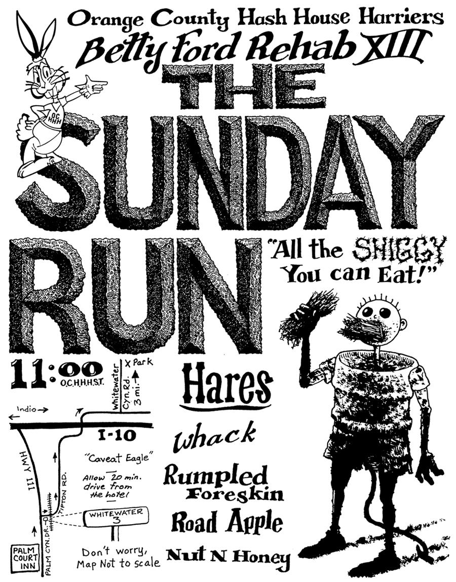 Flyer OCHHH Betty Ford Rehab XIII Hash Sunday Run (2008)
