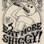 Hash Boy Eat More Shiggy Tee Shirt Back