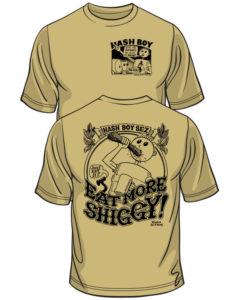Hash Boy Eat More Shiggy Tee Shirt Model