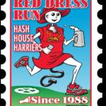 Hash Boy Red Dress Run Postage Stamp