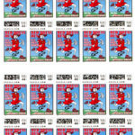 Hash Boy Red Dress Run Postage Stamp Sheet