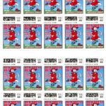 Hash Boy Red Dress Run Postage Stamp Sheet