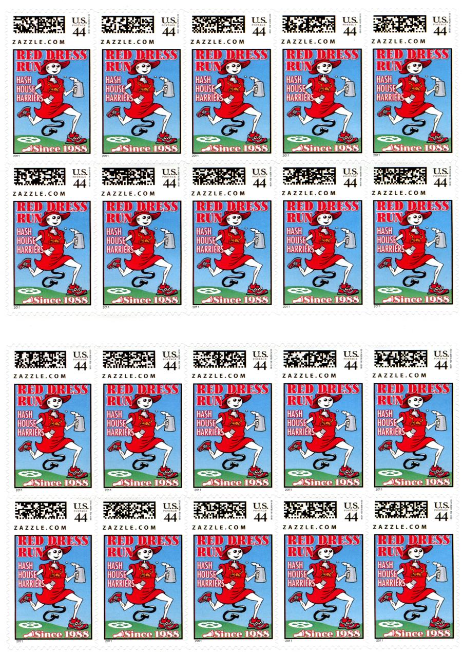Hash Boy Postage Stamp Sheet