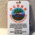 OCHHH Betty Ford Rehab Hash XXVIII (2014) Mark McGwire and Barry Bonds Admit tag back