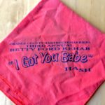 "Orange Bandana OCHHH Betty Ford Rehab Hash III ""I Got You Babe"" Bandana (1989) Sonny and Cher"