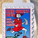 Luggage tag Hash Boy in Red dress Brussels Beer Odyssey 2014 Red Dress Run Tag