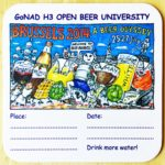 Hash Boy Beer Run Brussels Beer Odyssey 2014 Open Beer University Coaster by Nut N Honey