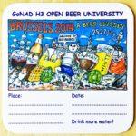 Hash Boy Brussels Beer Odyssey 2014 Open Beer University Coaster