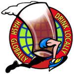 Hash Globally Drink Locally Logo by Nut N Honey