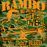 Camo OCHHH Rambo Hash (2001) Tee Front by Nut N Honey
