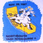 California North/South Intercourse II Hash (1987) Short-Sleeve Tee shirt designed by artist Anna Flores (Front)