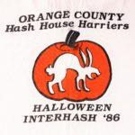 OCHHH Halloween Interhash (1986) Tee Back