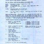 OCHHH Betty Ford Rehab Hash I BFR Flyer (1987) Betty Ford Rehab