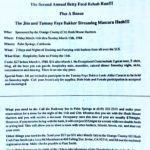 OCHHH Betty Ford Rehab Hash II BFR Flyer (1988) Jim & Tammy Faye Bakker