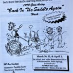 OCHHH Betty Ford Rehab Hash IV BFR Flyer (1990) Gene Autry