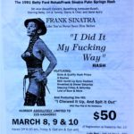 OCHHH Betty Ford Rehab Hash V BFR Rego Flyer (1991) Frank Sinatra