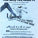 OCHHH Betty Ford Rehab Hash VI BFR Flyer (1992) Liberace