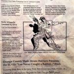OCHHH Betty Ford Rehab Hash VII BFR Flyer (1993) Elvis