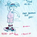 NCH3 North County Hash House Harriers 25th Run (1989) Tank Back