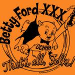 OCHHH Betty Ford Rehab Hash XXX Porky Tee Shirt Front (2016) by Nut N Honey