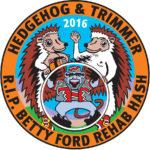 Hedgehog & Hedgetrimmer R.I.P. Betty Ford Rehab Hash Patch (2016) by Nut N Honey