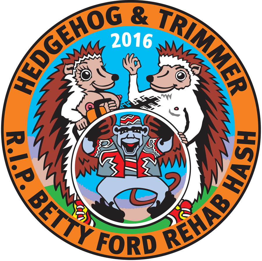 Hedgehog & Hedgetrimmer R.I.P. Betty Ford Rehab Hash Patch (2016) by Nut N Honey