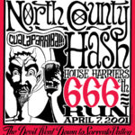 NCH3 North County Hash House Harriers 666 Run (2001) Tee Back by Nut N Honey