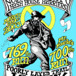 NCH3 North County Hash House Harriers Mr. Roarke's 700th Run (2003) Tee Front by Nut N Honey