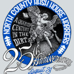 NCH3 North County Hash House Harriers 25th Anniversary Trail Angel (2013) Tee Back by Nut N Honey