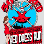 San Diego Hash House Harriers Red Dress Run (2013) Tee Back by Nut N Honey