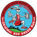 SDH3 San Diego Hash House Harriers Red Dress Run 25th Anniversary Patch (2013) by Nut N Honey