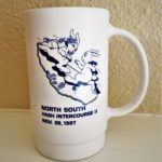 California North/South Intercourse II Hash (1987) Mug by artist Anna Flores