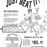 OCHHH Betty Ford Rehab Hash VIII BFR Rego Flyer (1994) Michael Jackson