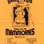 OCHHH Betty Ford Rehab Hash X BFR Flyer (1996) Bob Hope