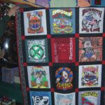 Hash quilt made in 2006 from Nut N Honey designed hash tee shirts