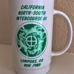 California North/South Intercourse III Hash (1989) Mug by artist Anna Flores