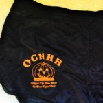 Black OCHHH Halloween Hash (1989) Black Running Shorts with Orange Pumpkin logo