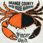 OCHHH Hash House Harriers Orange & Black Lobster with Pincer claw deployed