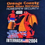 Hash Boy OCHHH Contra Cardiff Interhash (2004) Tee - Back