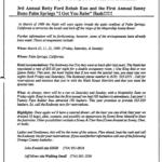 OCHHH Betty Ford Rehab Hash III BFR Announcement Flyer (1989) Sonny Bono