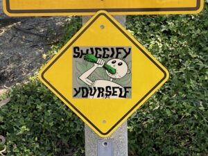 "Hash Boy says ""Shiggify Yourself!"" Traffic Signage"