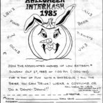 Southern California 1985 Halloween Interhash rego flyer (1985)