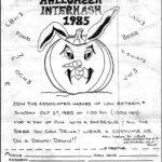 Southern California 1985 Halloween Interhash rego flyer (1985)