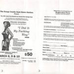 OCHHH Betty Ford Rehab Hash V BFR Rego Flyer (1991) Frank Sinatra