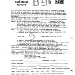 Long Beach LBH3 Hash Run #69 (1986) Rego Flyer